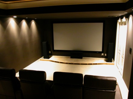 Home theater picture screen.