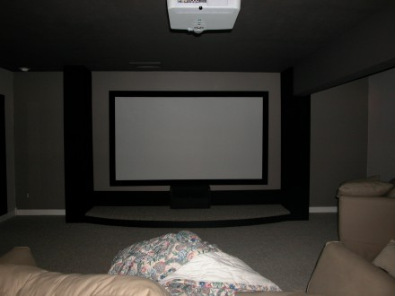 home theater projector screen for any budget carlton bale com